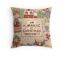 ugly christmas sweater Vintage Victorian cross stitch  Throw Pillow