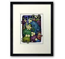 A crowd of chest dwelling aliens ... Framed Print