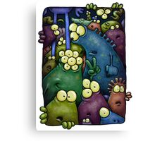 A crowd of chest dwelling aliens ... Canvas Print