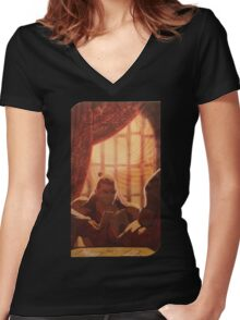 Major Arcana 19 - The Sun Women's Fitted V-Neck T-Shirt