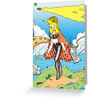 Bridge walker  [Pen Drawn Fantasy Figure Illustration] Greeting Card