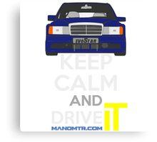 Keep Calm and Drive IT - cod. 190e-25-16v-evo-II Canvas Print