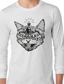 'Psychedelic Cat' Long Sleeve T-Shirt