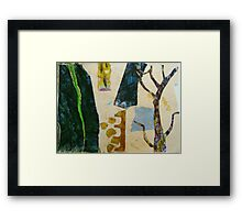 looking at the garden with scissors Framed Print