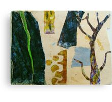 looking at the garden with scissors Canvas Print