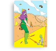 Desert Saucers  [Pen Drawn Fantasy Figure Illustration] Canvas Print
