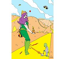 Desert Saucers  [Pen Drawn Fantasy Figure Illustration] Photographic Print