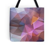 Abstract print geometrical pattern of triangles polygon. Fabric design in bright colors Tote Bag