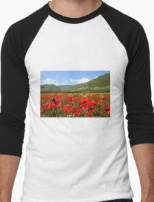 Poppies Men's Baseball ¾ T-Shirt