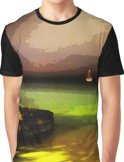 Night Fishing in Aruba Graphic T-Shirt