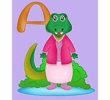 A is for Alligator Photographic Print