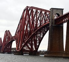 Forth Rail Bridge on a cloudy day by Lesleymc77