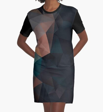 Abstract print geometrical pattern of triangles polygon. Fabric design in bright colors Graphic T-Shirt Dress