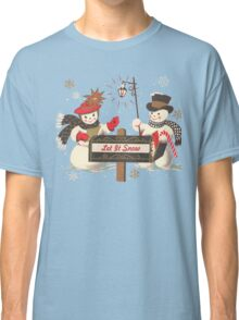 Old fashion Christmas Winter Let it snow cute Snowman  Classic T-Shirt
