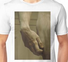 Michelangelo Study; The Hand Of David Unisex T-Shirt