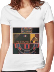 Group Band Women's Fitted V-Neck T-Shirt