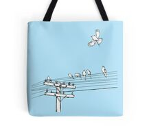 Birds on a wire Tote Bag