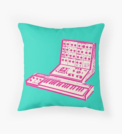 Pink VCS3 and DK1 design Throw Pillow