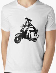 Scooter Girl Mens V-Neck T-Shirt