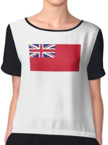 Red Ensign, NAVY, Merchant Navy, Flag, Red Duster, Royal Navy Flag,  Chiffon Top