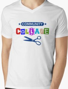 Community Collage Art College Pun Mens V-Neck T-Shirt