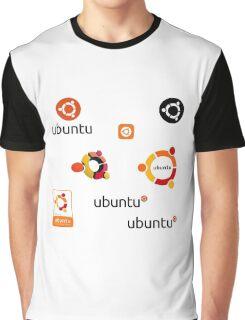 ubuntu linux stickers set Graphic T-Shirt