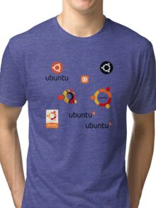 ubuntu linux stickers set Tri-blend T-Shirt