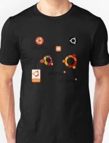 ubuntu linux stickers set Unisex T-Shirt