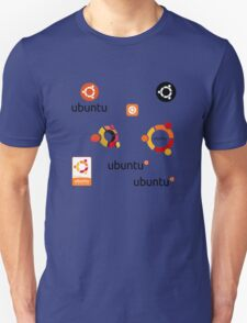 ubuntu linux stickers set Unisex T-Shirt