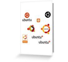 ubuntu linux stickers set Greeting Card