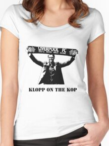 Jurgen Klopp - Klopp on the KOP Women's Fitted Scoop T-Shirt