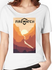 Firewatch horizion with logo Women's Relaxed Fit T-Shirt