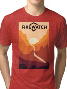 Firewatch horizion with logo Tri-blend T-Shirt