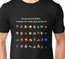 Do You Know These Classic Arcade Characters? Unisex T-Shirt