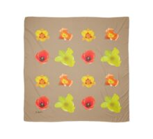 Tulips on iced coffee Scarf