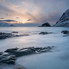 Haukland Sunset by Christopher Cullen