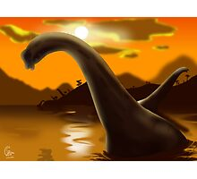 Brachiosaur Sunset Photographic Print
