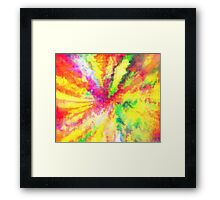 Psychedelic Abstract Watercolour Art Framed Print