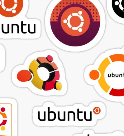 ubuntu linux stickers set Sticker