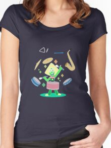 Peridot's one gem band Women's Fitted Scoop T-Shirt