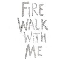 Fire Walk Photographic Print