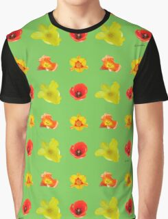 Tulips on green flash Graphic T-Shirt