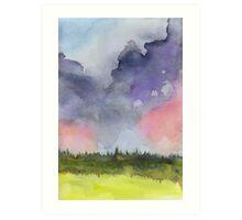 Pink Clouds Landscape Art Print