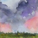 Pink Clouds Landscape by Natalie Luhrs