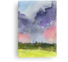 Pink Clouds Landscape Canvas Print