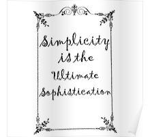 Simplicity Quote  Poster