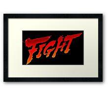 "-GEEK- Street Fighter ""Fight"" Framed Print"