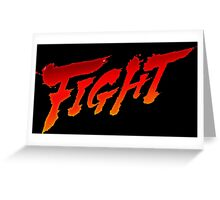 "-GEEK- Street Fighter ""Fight"" Greeting Card"