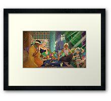 Jojo's Bizarre Adventures x Yu-Gi-Oh! - crossover Framed Print