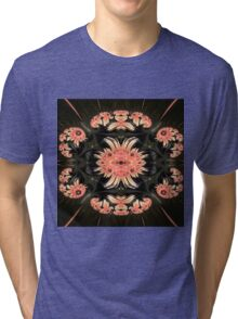 Rose on Black Tri-blend T-Shirt